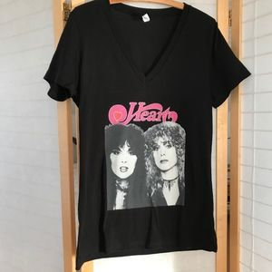 Bella Canvas Band tee Heart Wilson Sisters ROCK XL